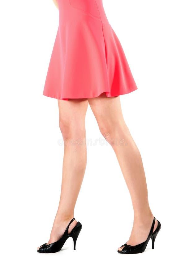 Jambes de femme dans la robe photographie stock libre de droits