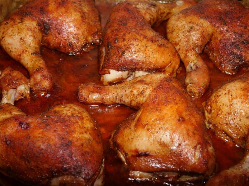 Jambes de poulet rôti photo libre de droits