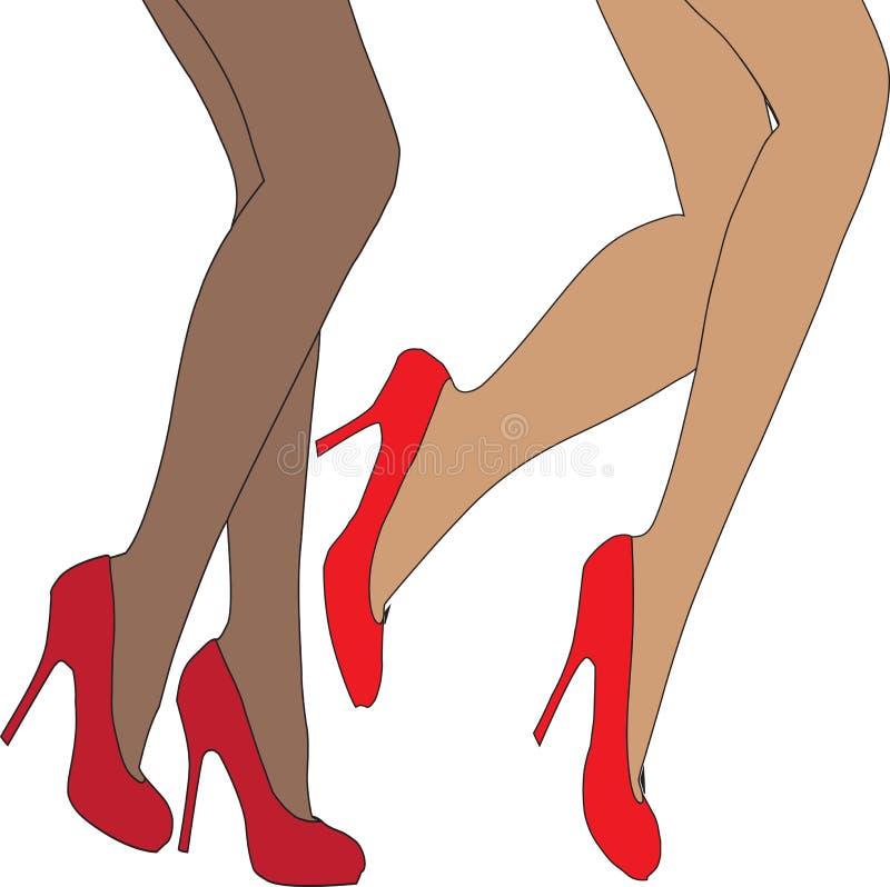 Jambes femelles illustration stock
