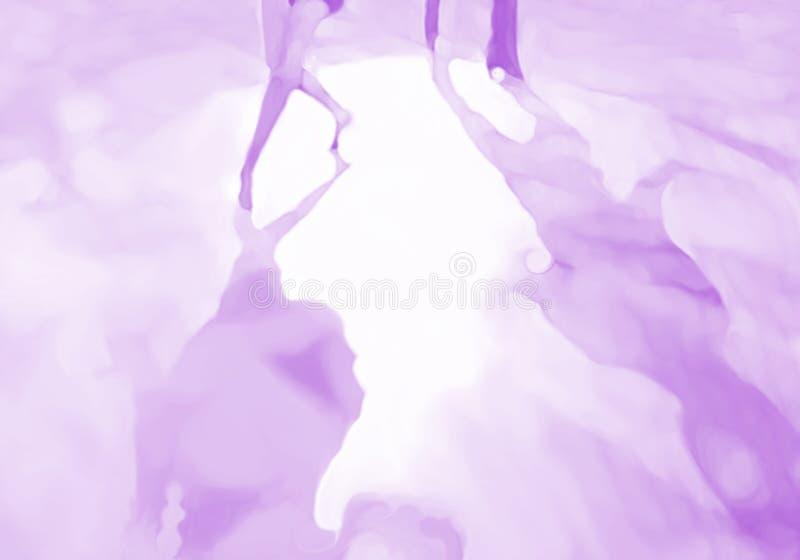 Jambes pourpres monochromes de projecteur de piste de danse illustration stock