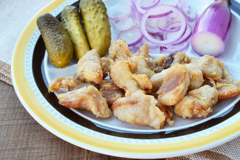 Jambières de porc - plan rapproché image stock