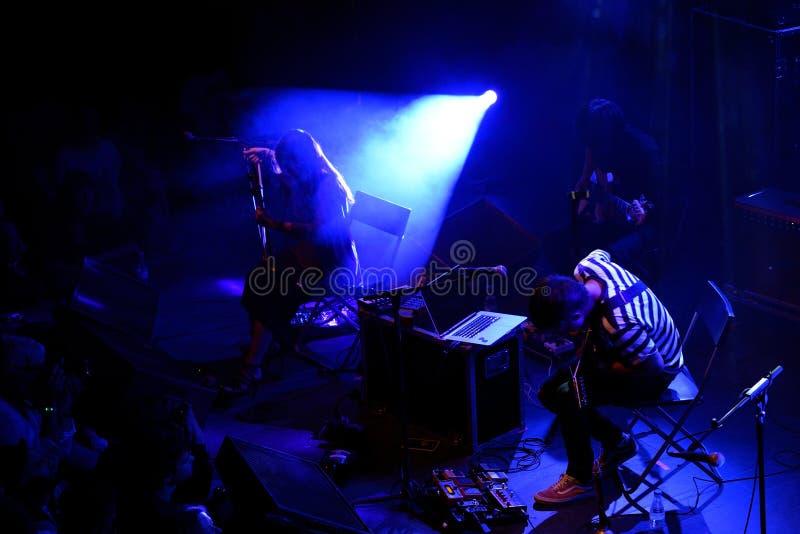 Jambinai (banda experimental) se realiza en el festival 2015 del sonido de Primavera foto de archivo libre de regalías