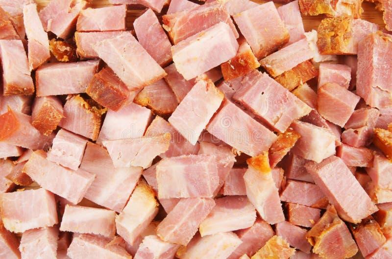 Jambon coupé photo stock