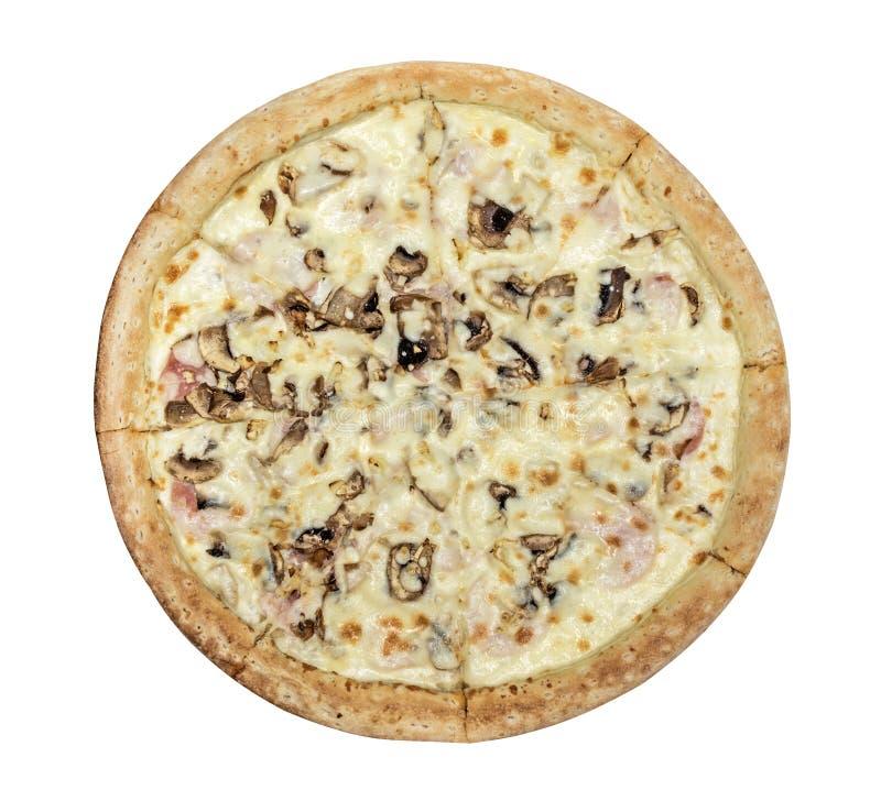Jambon de pizza avec des champignons photo stock