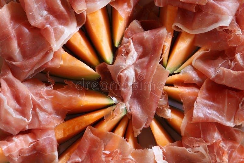 Jambon et melon de Parme photos libres de droits
