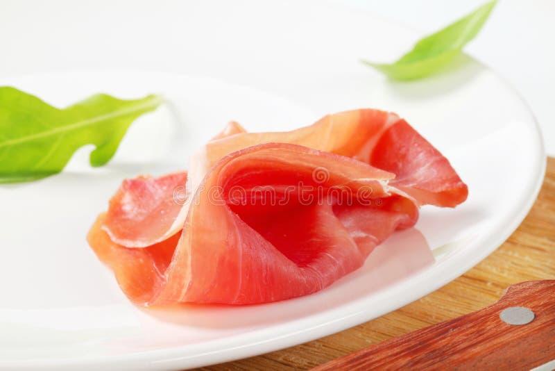 jambon Sec-corrigé photographie stock