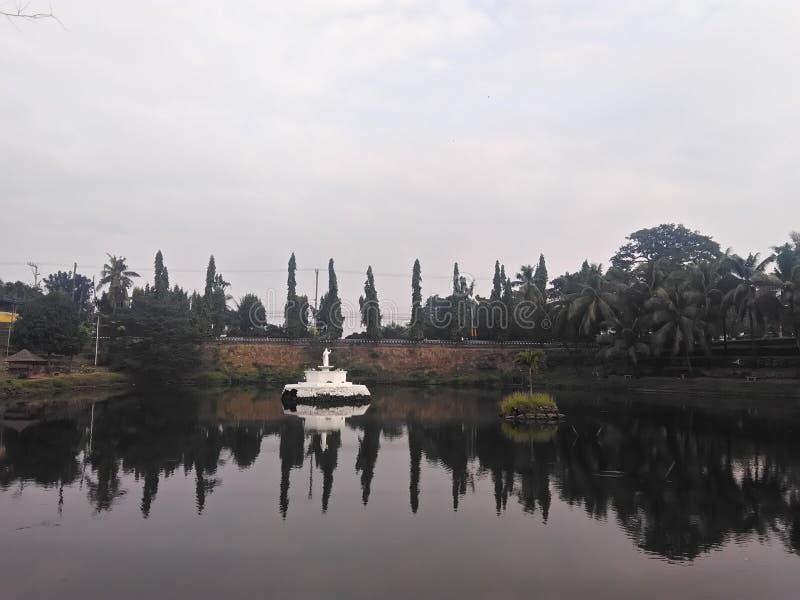 Jamburro lake. Smallest lake in the Philippines found in muntinlupa city in metro manila, Philippines stock photo