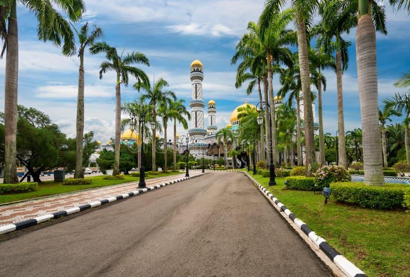 Jame'Asr Hassanal Bolkiah moské, Brunei arkivbild