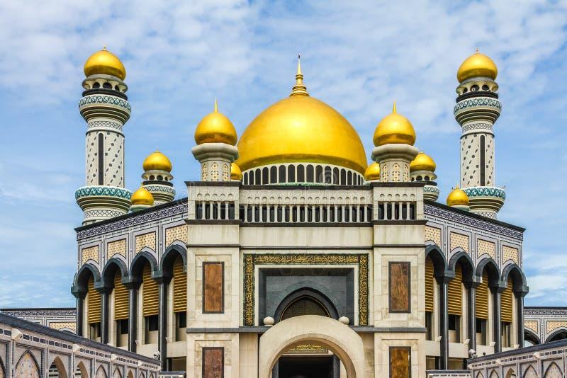 Jame Asr Hassanil Bolkiah Mosque-Brunei, Ásia imagem de stock
