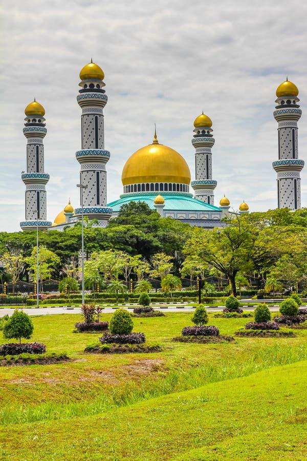 Jame Asr Hassanil Bolkiah Mosque-Brunei, Ásia fotografia de stock