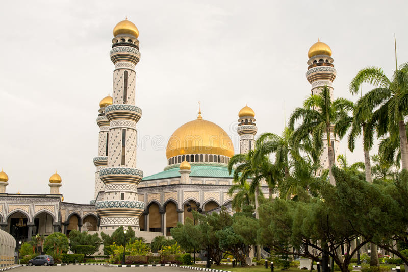 Jame Asr Mosque em Brunei Darussalam foto de stock royalty free