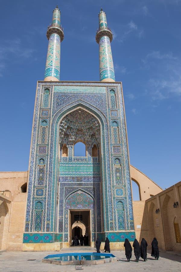 Jame Mosque di Yazd, nell'Iran immagine stock libera da diritti