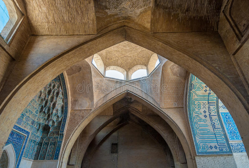 Jameh or Friday Mosque of Isfahan, Iran royalty free stock photos