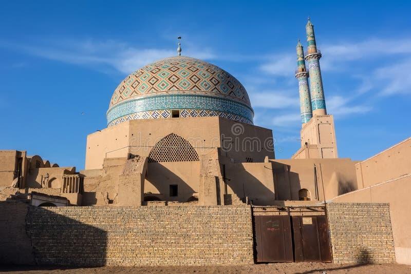 Jameh-Moschee in Yazd stockfotos