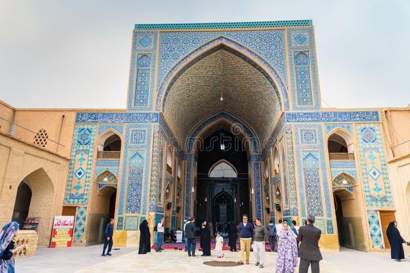 Jameh moské i Yazd iran arkivbild