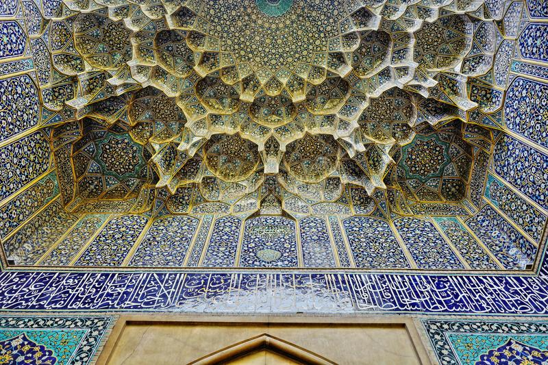 Jameh Mosque of Isfahan stock photography