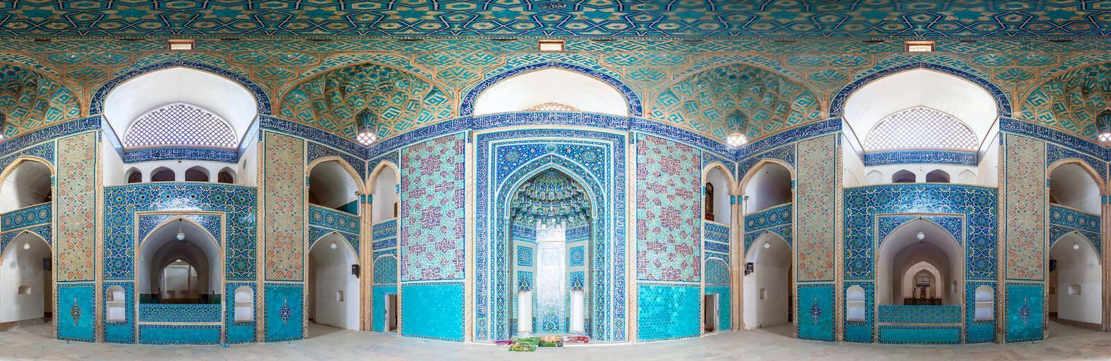 Jameh Mosque in Yazd royalty free stock image