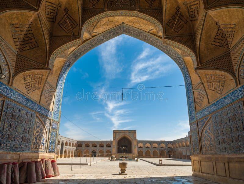 Jameh ou mesquita de sexta-feira de Isfahan, Irã imagens de stock
