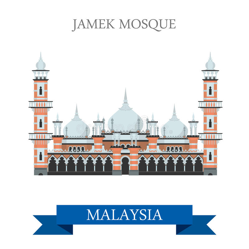 Free Jamek Mosque Kuala Lumpur Malaysia Attraction Travel Sightseeing Royalty Free Stock Images - 69348889