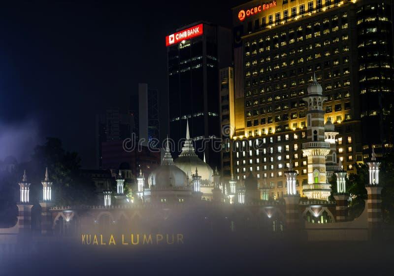 Jamek Mosque landmark in River of Life area of Kuala Lumpur city Malaysia stock photo