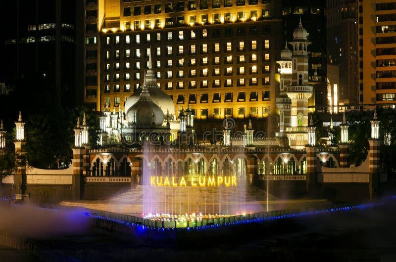 Jamek Mosque landmark in River of Life area of Kuala Lumpur city Malaysia royalty free stock images
