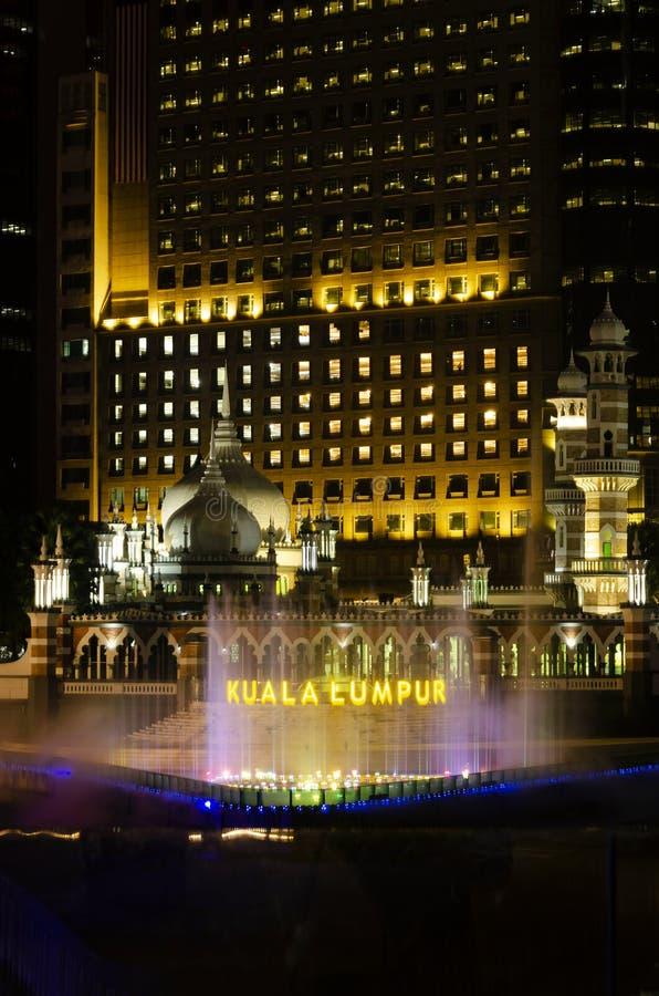 Jamek Mosque landmark in River of Life area of Kuala Lumpur city Malaysia stock photos