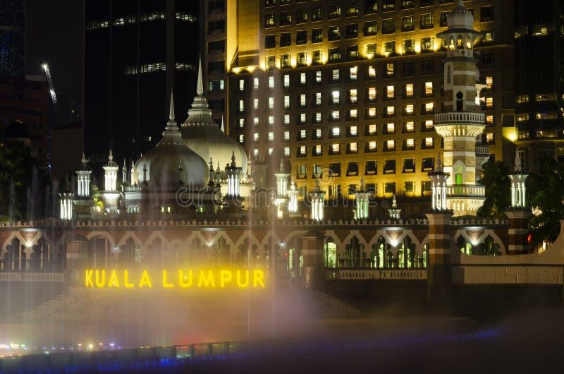 Jamek Mosque landmark in River of Life area of Kuala Lumpur city Malaysia stock image