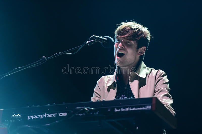 James Blake koncert obraz royalty free