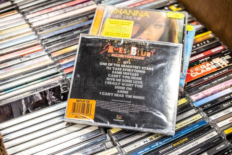 James Blunt-CD album Alle Verloren Zielen 2007 op vertoning voor verkoop, beroemde Engelse musicus en songwriter royalty-vrije stock afbeeldingen