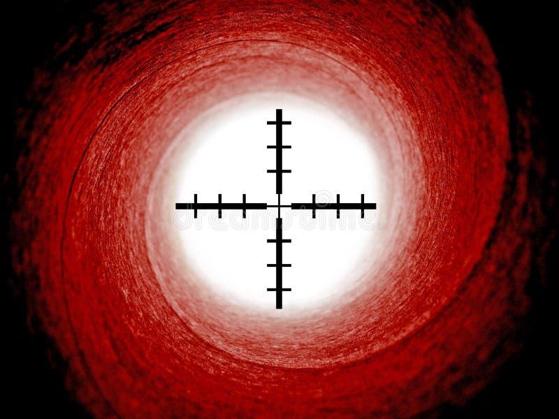 Download James Bond Gun Barrel With Crosshair Sights Stock Images - Image: 17247074