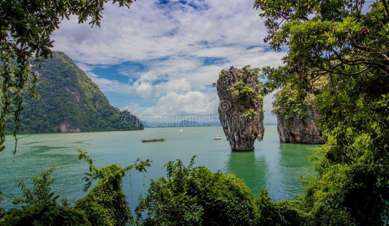James Bond Island, baie Thaïlande de Phang Nga image stock
