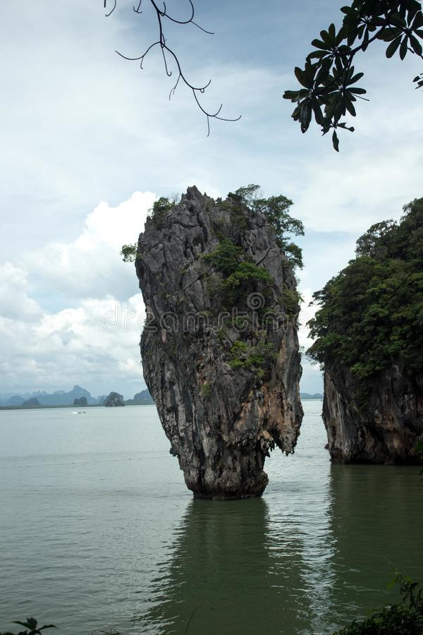 James Bond Island famoso, Phuket, Thailand-2 imagem de stock royalty free
