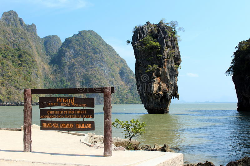James bond island, Thailand. James bond cliff island, Phang-Nga, Thailand royalty free stock image