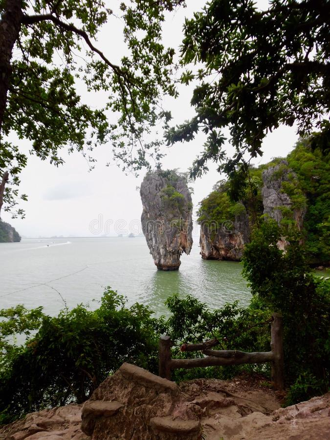 James Bond Island Thailand Phuket stock afbeelding