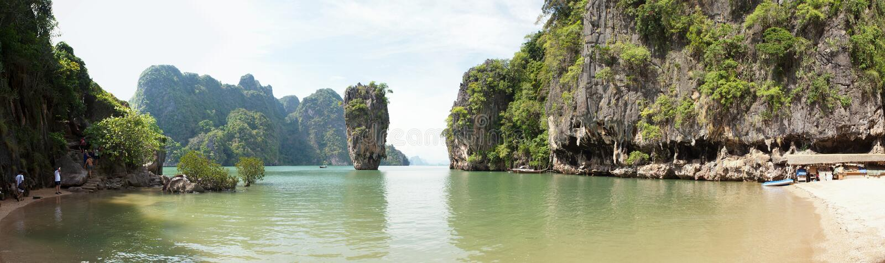 Download James Bond (Ko Tapu) Island Cove Panorama Stock Photo - Image: 8725704