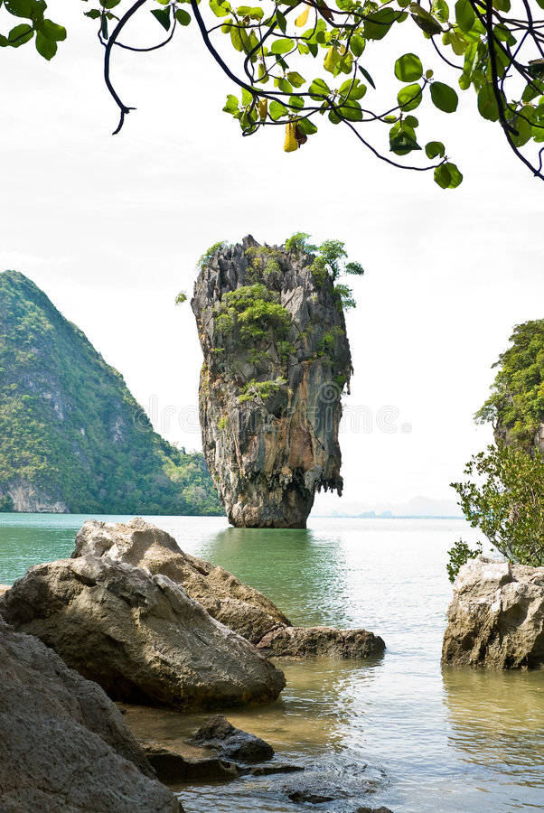 James Bond (Ko Tapu) Island Vertical Stock Photos