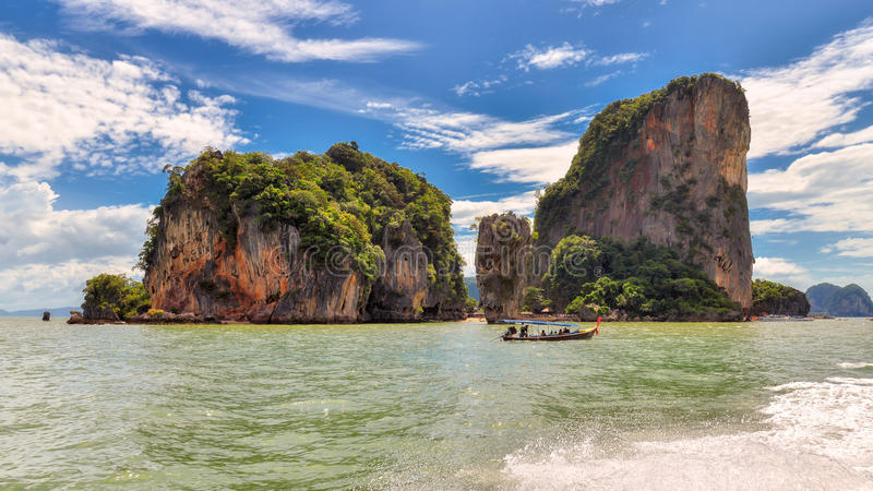 James Bond wyspa blisko Phuket w Tajlandia obraz stock