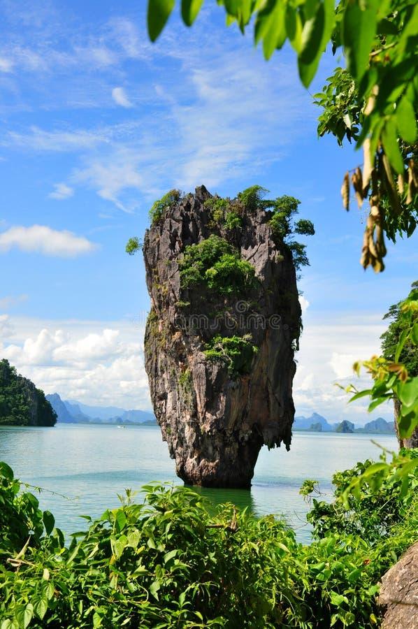 James Bond wyspa Phuket, Tajlandia zdjęcie royalty free