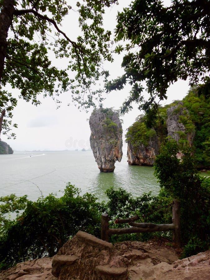 James Bond wyspa Tajlandia Phuket obraz stock
