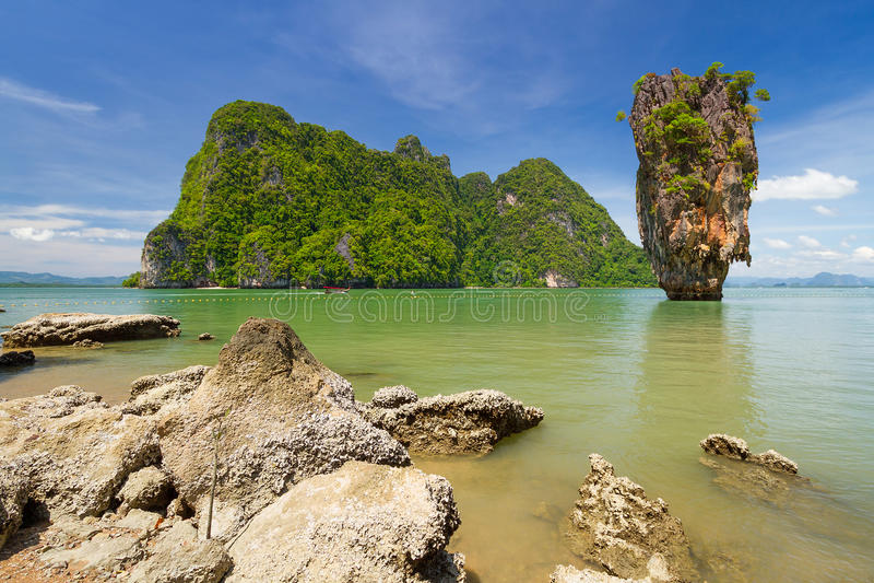 James Bond wyspa w Tajlandia fotografia stock