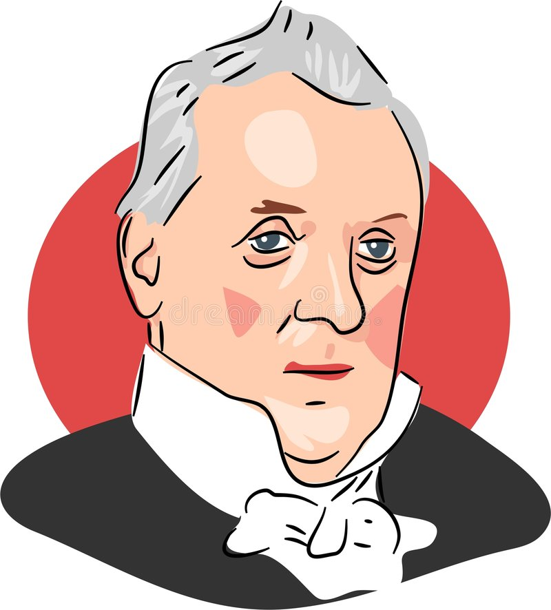 James Buchanan royalty free illustration