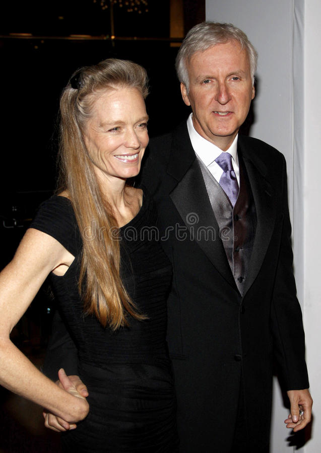 James Cameron i Suzy Amis obrazy royalty free