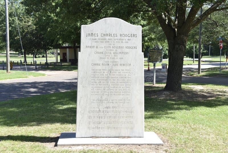 James Charles Rodgers The Singing Brakeman, meridiano, Mississippi imagen de archivo libre de regalías