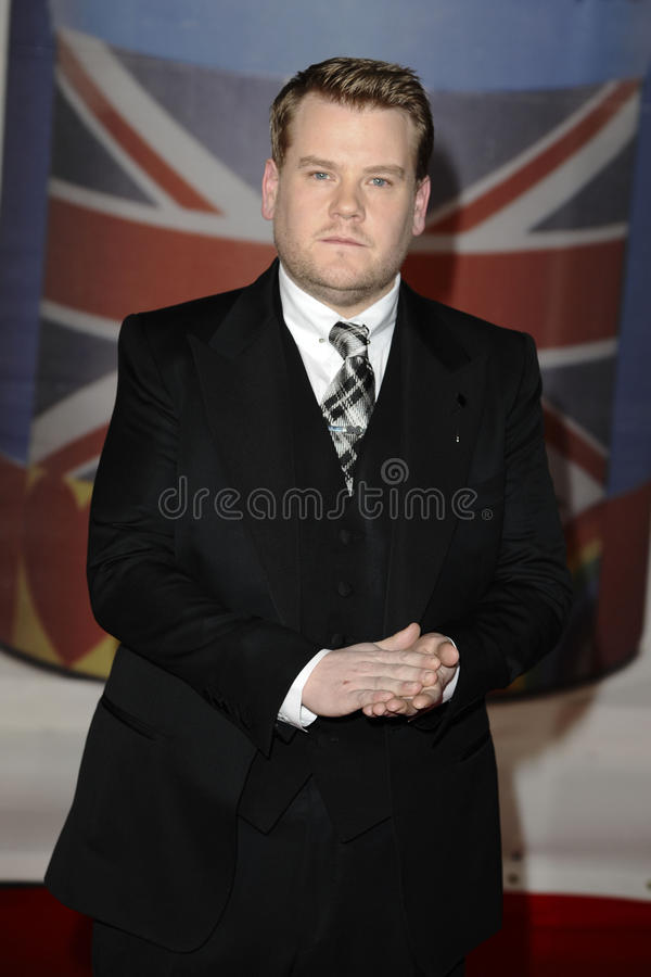 James Corden. Arriving for the Brit Awards 2012 at the O2 arena, Greenwich, London. 21/02/2012 Picture by: Steve Vas / Featureflash royalty free stock image