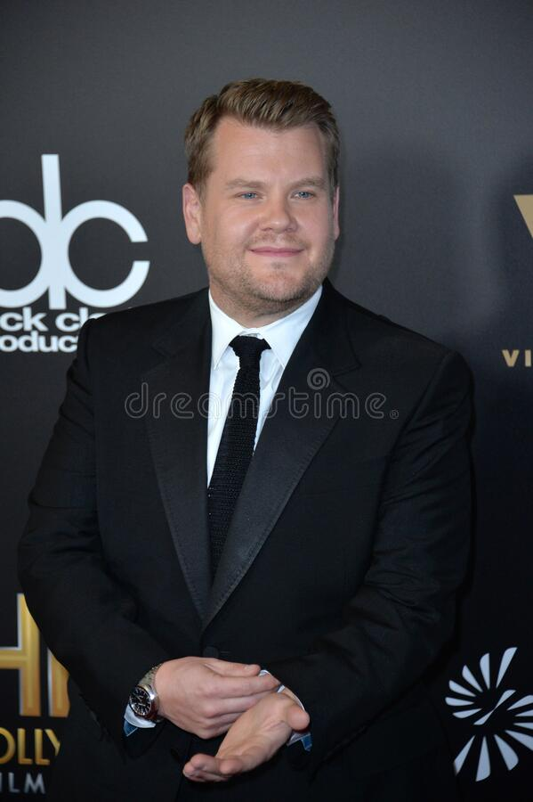 James Corden. BEVERLY HILLS, CA. November 6, 2016: Actor & chat show host James Corden at the 2016 Hollywood Film Awards at the Beverly Hilton Hotel stock images