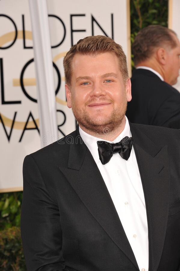 James Corden. LOS ANGELES, CA - JANUARY 11, 2015: James Corden at the 72nd Annual Golden Globe Awards at the Beverly Hilton Hotel, Beverly Hills royalty free stock photo
