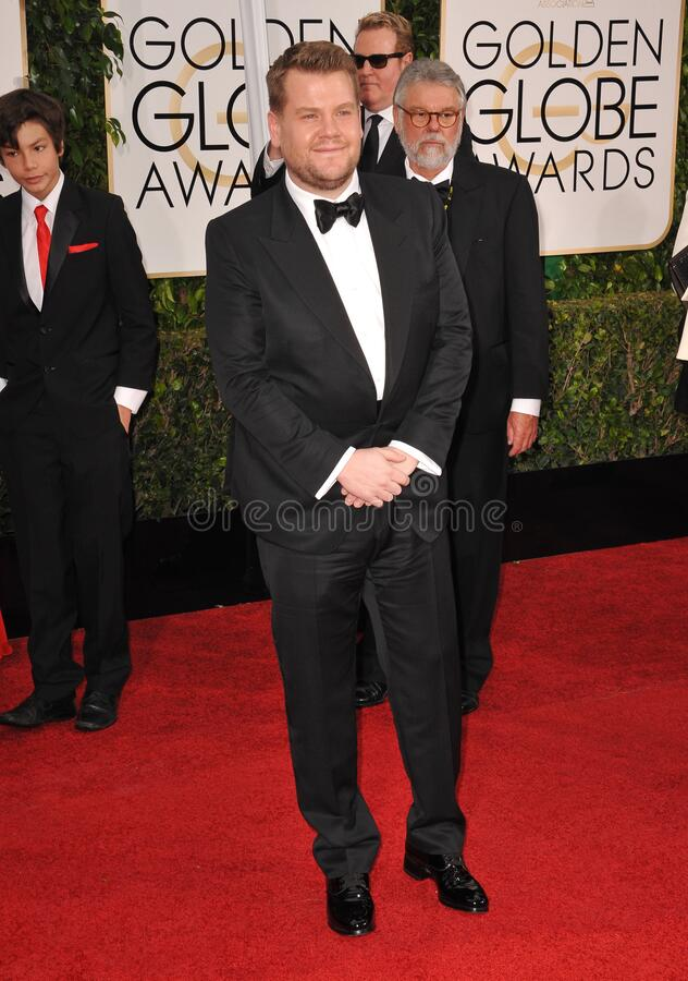 James Corden. LOS ANGELES, CA - JANUARY 11, 2015: James Corden at the 72nd Annual Golden Globe Awards at the Beverly Hilton Hotel, Beverly Hills stock photo