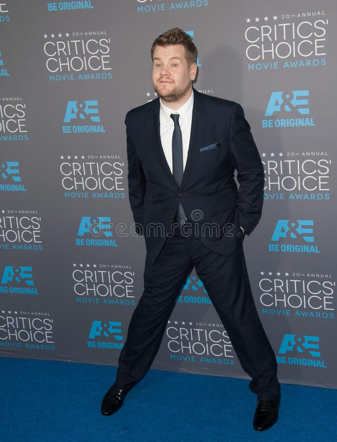 James Corden. LOS ANGELES, CA - JANUARY 15, 2015: James Corden at the 20th Annual Critics' Choice Movie Awards at the Hollywood Palladium royalty free stock photography