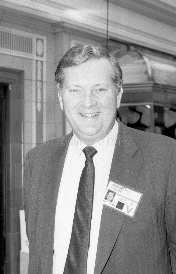 James Couchman. Conservative party Member of Parliament for Gillingham, visits the party conference on October 10, 1989 in Blackpool, England royalty free stock photo