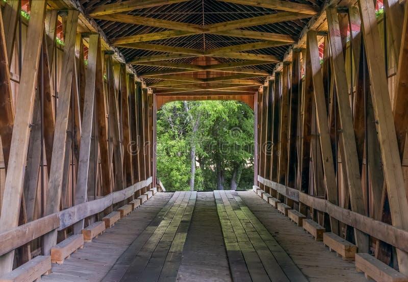 James Covered Bridge Interior images stock